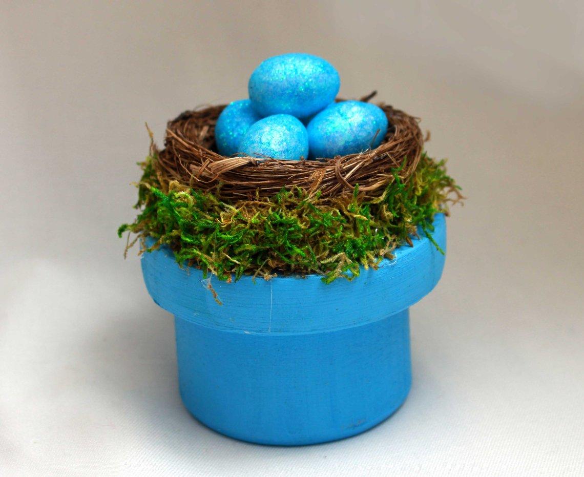 ostara altar box with nest