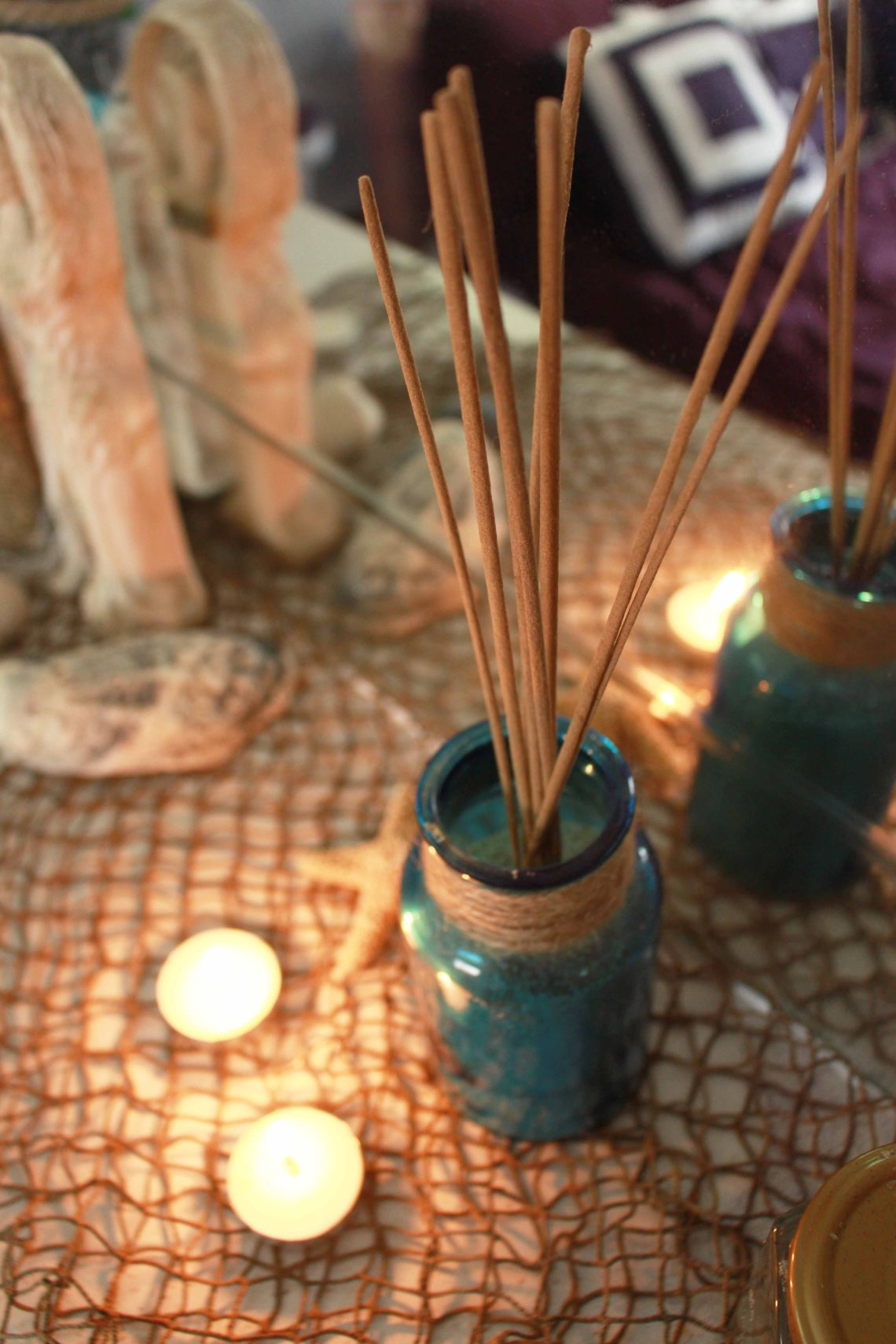 incense in bottle of sand 2
