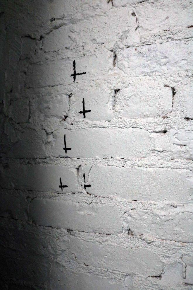 upside down crosses
